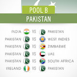 Cricket match schedule of Pakistan. Stock Photo