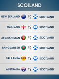 Cricket match schedule 2015 of Scotland. Stock Images