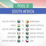Cricket match schedule of South Africa. Royalty Free Stock Photo