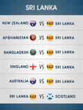 Cricket match schedule 2015 of Sri Lanka. Stock Photography