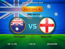 Cricket match schedule 2015. Stock Images
