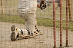 Cricket net practice Stock Photo