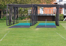 Cricket Nets. For cricketers to practise their batting and bowling royalty free stock images