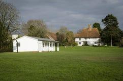 Cricket Pavillion on a Village Green Stock Image