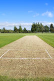 Cricket pitch empty Stock Photos