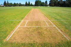Cricket pitch field Royalty Free Stock Photography