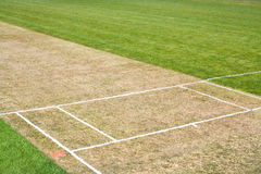 Cricket pitch sport background Royalty Free Stock Photography