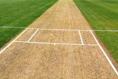 Cricket pitch sport field Stock Images