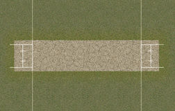 Cricket Pitch Top View Royalty Free Stock Image