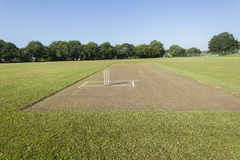 Cricket Pitch Wickets Field Stock Photo