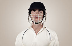 Cricket player Royalty Free Stock Photos