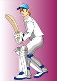 Cricket player Royalty Free Stock Photo