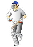 Cricket player Royalty Free Stock Photo