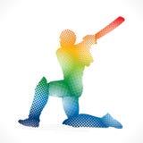 Cricket player banner design Stock Photos