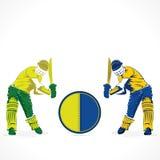 Cricket player banner design Stock Image