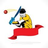 Cricket player banner design Royalty Free Stock Photos