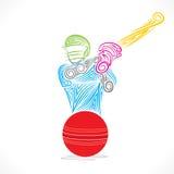 Cricket player banner design Stock Photo