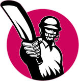 Cricket player batsman Royalty Free Stock Image