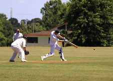 Cricket player batsman batting Royalty Free Stock Photography