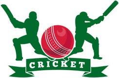 Cricket player batsman batting Stock Photo