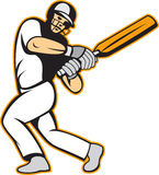 Cricket Player Batsman Batting Royalty Free Stock Images