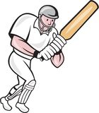 Cricket Player Batsman Batting Cartoon Royalty Free Stock Images