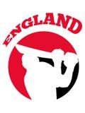Cricket player batsman batting retro England Royalty Free Stock Images