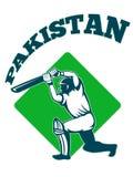 Cricket player batsman batting retro Pakistan Stock Photos