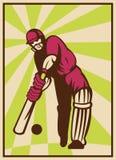 Cricket player batting ball Royalty Free Stock Image