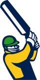 Cricket Player Batting Retro Royalty Free Stock Image