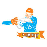 Cricket player design Royalty Free Stock Photos
