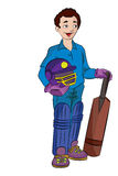 Cricket Player, illustration Stock Photos