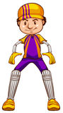 A cricket player Stock Photography
