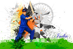 Cricket Player from India. Easy to edit vector illustration of cricket player from India Royalty Free Stock Photography