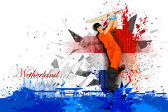 Cricket Player from Netherland Stock Image