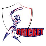 Cricket player playing with bat Royalty Free Stock Photo