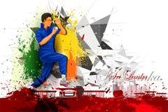Cricket Player from Sri Lanka Royalty Free Stock Photos