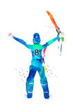 Cricket Player in uniform for Sports concept. Stock Images