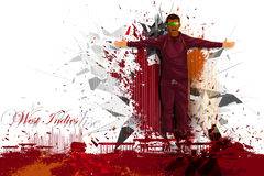 Cricket Player from West Indies Royalty Free Stock Photo