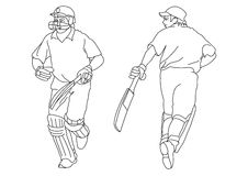 Cricket players Royalty Free Stock Photography