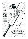 Cricket poster design Royalty Free Stock Image