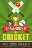 Cricket poster template Stock Photos