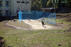 Cricket Practice Batting Cage Royalty Free Stock Images