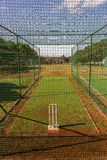 Cricket Practice Nets Stock Photo