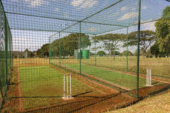 Cricket Practice Nets Royalty Free Stock Images