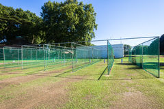 Cricket Practice Nets Wickets Game Stock Photo