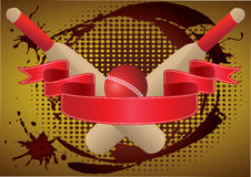 Cricket ribbon grunge Royalty Free Stock Photo