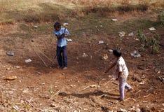 Cricket rurale Immagini Stock