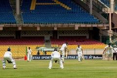 Cricket scene Royalty Free Stock Image