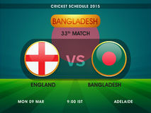 Cricket schedule 2015 between England and Bangladesh. Royalty Free Stock Photos